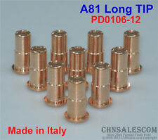10 PCS A81 Trafimet  Plasma Cutter Torch Long TIP PD0106-12 Made in Italy