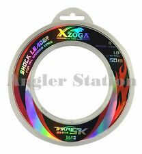 Xzoga Taka SK 30lb/50m Shock Leader Fishing Nylon Line - Clear