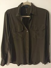 Tom Ford Army Green Button-down Shirt Blouse