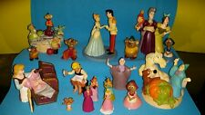 "Lot of 17 Disney Cinderella PVC Figures Cake Toppers 1/2"" - 4"" HARD TO FIND! EUC"