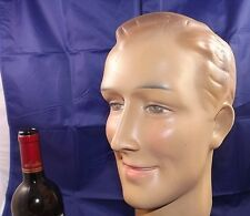 French City sport Mannequin Head Bust plaster Art Deco Steampunk mid century