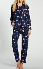 NWT Kate Spade New York soft Flannel Pajamas Hot Air Balloons Navy blue New XL