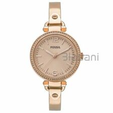 Fossil Original ES3226 Women's Georgia Rose Gold Stainless Steel Watch 32mm