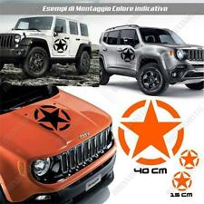 KIT 3 STICKERS STAR ARMY BODYWORK GRAPHIC JEEP WRANGLER OFF ROAD ORANGE