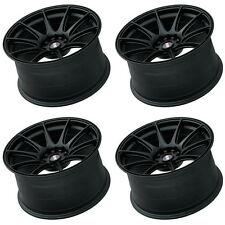 "XXR 527 18"" x 8.75 ET35 5x120 5x114.3 FLAT BLACK WIDE RIMS ALLOYS WHEELS Z1251"