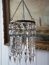 Edwardan Albert Cut Crystal Chandelier. H13 1/2'' W5''