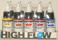 Golden High Flow Acrylic 10 Color Professional Artist Set 1 fl. oz. Sealed 953-0