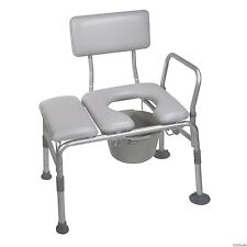 NEW Handicap Padded Commode Seat Transfer Chair Bench Toilet Bathroom Shower Tub