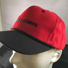 Embroidered High Trucker High Profile Weatherford Enterra Snap Back Hat Cap Red
