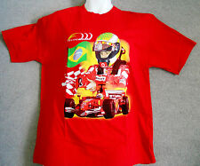 Ferrari F1 Vintage Felipe Massa Brazilian Flag Cotton Tee Shirt Medium Only