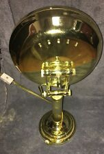 "Vtg Mirror Lighted Makeup Vanity Round Magnifying Gold Tone/ stand 16"" Tall"