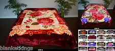 ☀️HIGH QUALITY THICK n HEAVY REVERSIBLE 2 ply QUEEN SOFT KOREAN MINK BLANKET #7