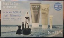 NATIO MEN DAILY FACE WASH FIRMING FACE MOISTURISER EYE SERUM BONUS HAIR TRIMMER