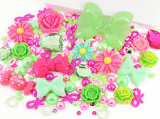 Watermelon 10 x Cabochon 10g Rhinestone & Pearl Set Kit Decoden Craft Mix