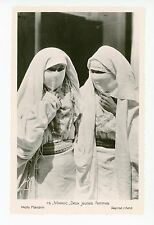 Girls in Burka RPPC Vintage Morocco—Flandrin Photo CPA Islam Types 1940s