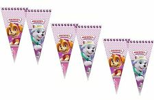6 Paw Patrol Pink Birthday Party Cone Shaped Cello Party Favor Favour Loot Bags