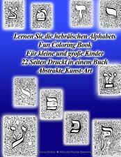 Lernen Sie Die Hebräischen Alphabets Fun Coloring Book Für Kleine und Große...