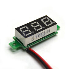 Mini DC 3.5-30V Green LED Panel  Meter 3-Digital Display Voltmeter