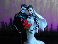 Day of the Dead Wedding Cake Topper With Veil 6 Inches