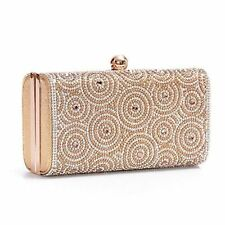 Women Ladies Evening Clutch Bag Wedding Purse Bridal Prom Handbag Party Bag Gold