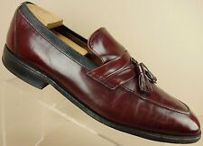 Allen Edmonds Biscayne Burgundy Leather Moc Toe Tassel Loafers Shoes Mens 10.5 E