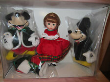 "Madame Alexander 8""Doll Wendy Caroling with Mickey & Minnie (2 Plush) 42610 new"