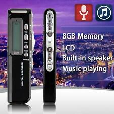 8GB 650Hr USB Schermo LCD Audio Digitale Registratore Vocale Dittafono MP3
