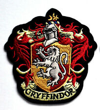 HARRY POTTER GRYFFINDOR HOGWART CREST EMBROIDERED SEW IRON ON SCHOOL BADGE PATCH
