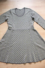 BODEN  grey / gold  Glamorous Knitted dress size 14R  NEW