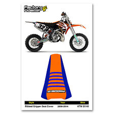 2009-2015 KTM SX 50 SEAT COVER Ribbed GRIPPER Blue/Orange/Blue by Enjoy MFG