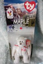 TY McDonald's Teenie Beanie Baby Maple the Bear (Canada) - New in Package MINT!