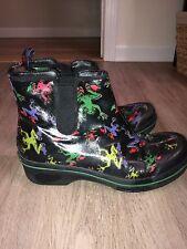 Dansko VAIL Black Frog Snow Rain Boots Waterproof 39 Euro 8 1/2 - 9