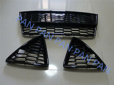 KIT honeycombed Front Bumper lower grille grills for Ford Focus 2012 2013 2014