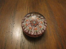 Vintage Strathearn Glass Paperweight Millefiori Hand Made in Scotland Marked