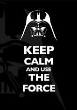 POSTER KEEP CALM AND USE THE FORCE STAR WARS DARTH VADER SITH MOVIE USA FORZA
