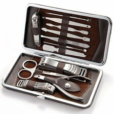 12In1 Stainless Steel Nail Cutter Cuticle Clipper Pedicure Manicure Tool Kit Set