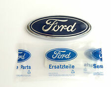 FORD ESCORT MK7 VII FIESTA MK4 IV KA BLUE OVAL GRILLE NAME BADGE EMBLEM 95x38mm