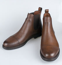 NIB. RALPH LAUREN Mosley II Brown Grain Leather Ankle Boots Shoes 13 Italy $995
