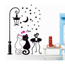 Amoureux des chats Creative Art Mural sticker amovible mural Home Decor Bon