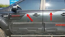 NEW BLACK DOOR CLADDING TRIM FOR FORD RANGER XLS XLT DOUBLE CAB 2012-17 SET OF4