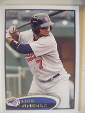 LUIS JIMENEZ RC 2012 Topps Pro Debut baseball card 17 BREWERS ANGELS RED SOX QTY