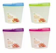 4x Set of Plastic 3L Dry Food Kitchen Storage Dispenser Container Air Tight Lid
