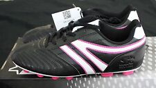 Starter Girls/Youth/Women's Soccer Cleats Black/Pink/White Size 6