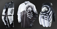 "Metal Mulisha Optic MX Pants 32"" Jersey M Gloves M Motorbike Black White"