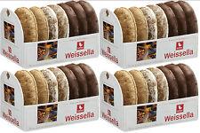 WEISS 4x 200g Weissella Oblaten Lebkuchen Dreifach 20% Nüsse 800g