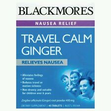 2× Blackmores Travel Calm Ginger 45 Tablets OzHealthExperts