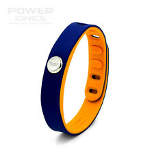 Power Ionics 3000 ions Sports Fashion Waterproof  Titanium Balance Bracelet Blue