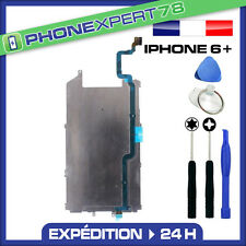 PLAQUE EN FER METAL CARTER ECRAN LCD IPHONE 6 PLUS + NAPPE BOUTON HOME