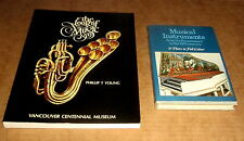 2 Books 305 RARE MUSICAL INSTRUMENTS 1500 to 1900 THE LOOK OF MUSIC CLASSICAL
