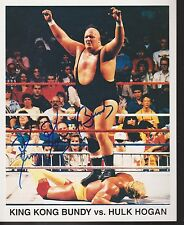 King Kong Bundy Signed Auto 8x10 VS Hulk Hogan WWF WWE    *